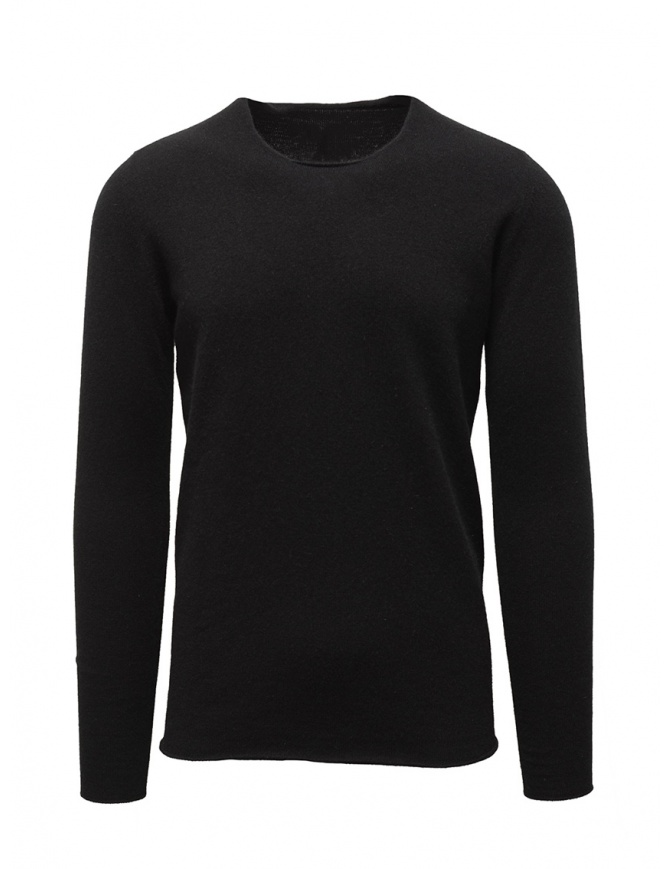 Label Under Construction black wool and angora sweater 34YMSW223 WA11 34/9 mens knitwear online shopping