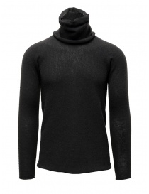Mens knitwear online: Label Under Construction grey sweater with separated collar