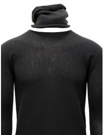 Label Under Construction grey sweater with separated collar