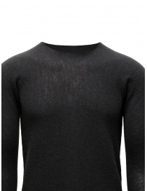 Label Under Construction grey sweater with separated collar mens knitwear price