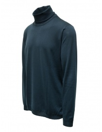 Goes Botanical petroleum blue Merino wool turtleneck