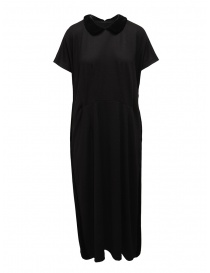 Womens dresses online: Miyao wool dress with velvet collar black