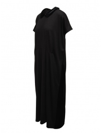 Miyao wool dress with velvet collar black buy online
