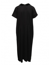 Miyao wool dress with velvet collar black price