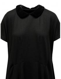 Abito Miyao in lana con colletto in velluto nero abiti donna acquista online