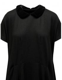 Miyao wool dress with velvet collar black womens dresses buy online