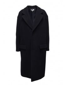 Womens coats online: Miyao navy blue egg coat
