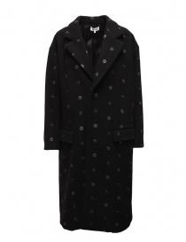 Cappotti donna online: Cappotto Miyao nero a fiori blu