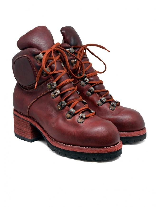Stivale Guidi R19V rosso in pelle di cavallo stile scarpone R19V HORSE FULL GRAIN 1006T calzature donna online shopping