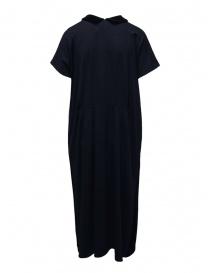 Abito Miyao in lana blu colletto in velluto nero prezzo