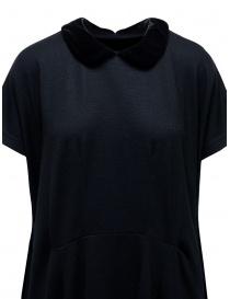 Abito Miyao in lana blu colletto in velluto nero abiti donna acquista online
