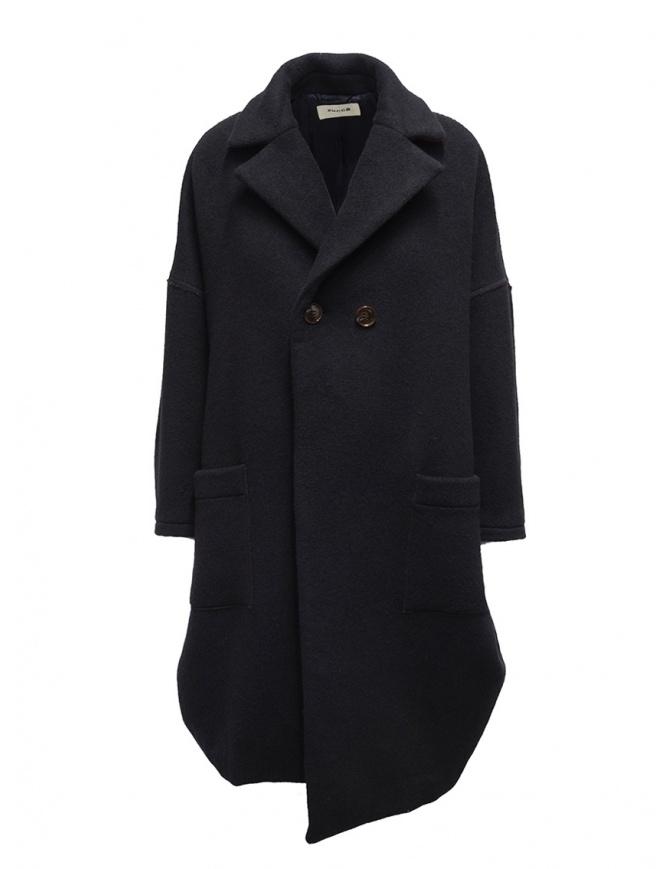 Zucca navy blue three quarter sleeve cocoon-shaped coat ZU99FA073 NAVY womens coats online shopping
