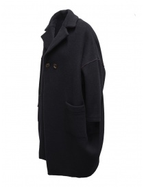 Zucca navy blue three quarter sleeve cocoon-shaped coat price