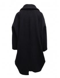 Zucca navy blue three quarter sleeve cocoon-shaped coat buy online