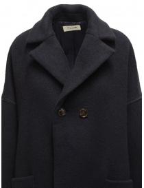 Zucca navy blue three quarter sleeve cocoon-shaped coat womens coats buy online