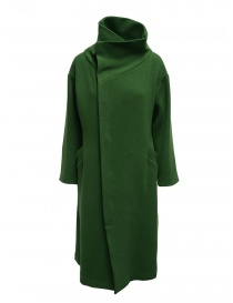 Plantation green high collar coat online