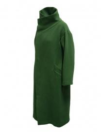 Plantation green high collar coat price