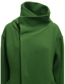 Plantation green high collar coat