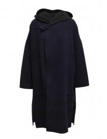 Cappotti donna online: Cappotto poncho Plantation blu-nero reversibile
