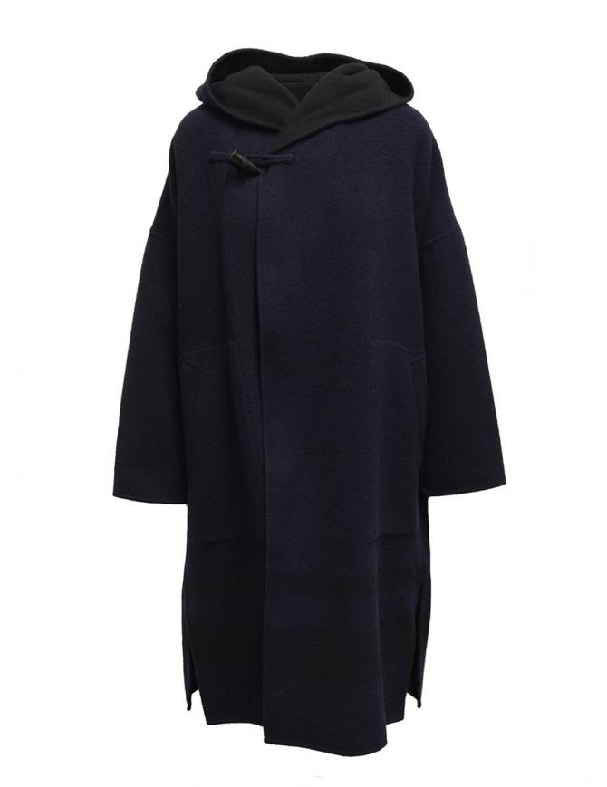 Cappotto poncho Plantation blu-nero reversibile PL99FA017 BLUE/BLACK cappotti donna online shopping