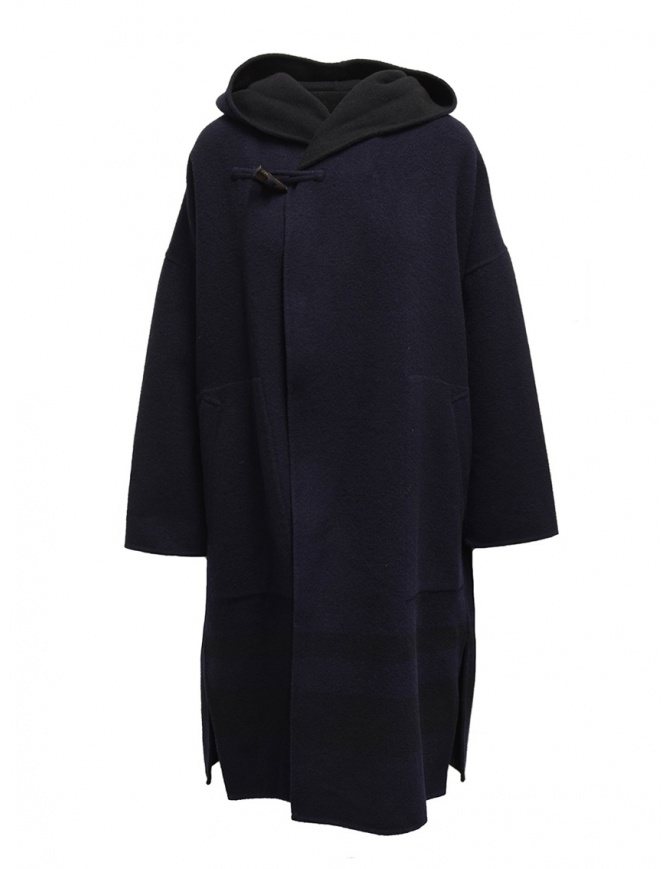 Plantation blue-black reversible poncho coat PL99FA017 BLUE/BLACK womens coats online shopping