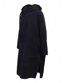 Cappotto poncho Plantation blu-nero reversibile prezzo
