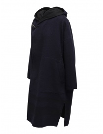 Plantation blue-black reversible poncho coat price