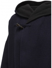 Cappotto poncho Plantation blu-nero reversibile cappotti donna prezzo