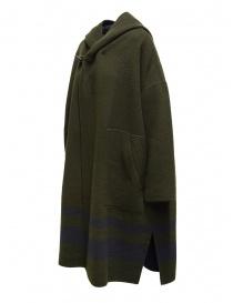 Cappotto poncho Plantation verde-blu reversibile cappotti donna acquista online
