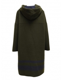 Cappotto poncho Plantation verde-blu reversibile cappotti donna prezzo
