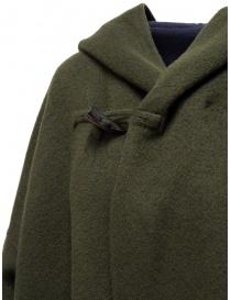 Plantation green-blue reversible poncho coat price