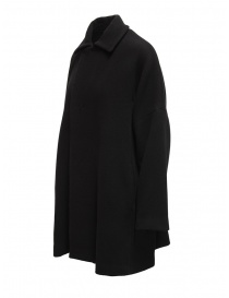 Plantation black coat with shirt collar