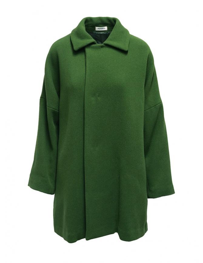 Cappotto Plantation verde collo a camicia PL99-FC043 GREEN cappotti donna online shopping