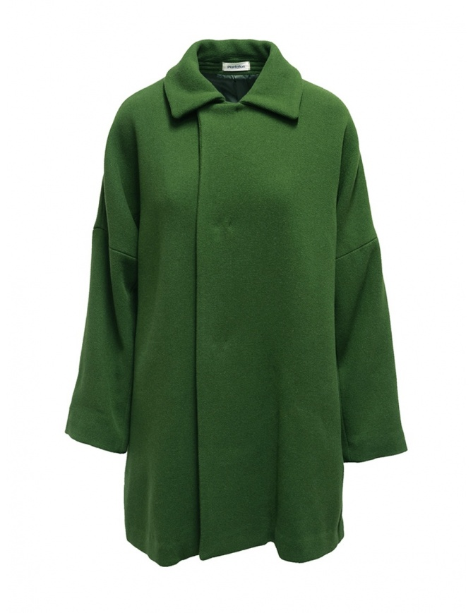 Plantation green coat with shirt collar PL99-FC043 GREEN womens coats online shopping