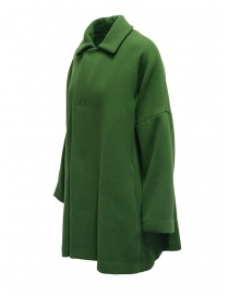 Plantation green coat with shirt collar