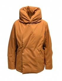 Womens jackets online: Plantation brick red duvet jacket