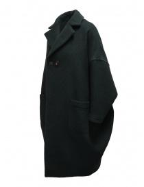 Zucca green three quarter sleeve cocoon-shaped coat price