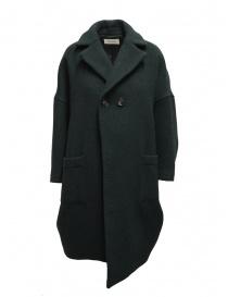 Cappotti donna online: Zucca cappotto a uovo manica a tre quarti verde