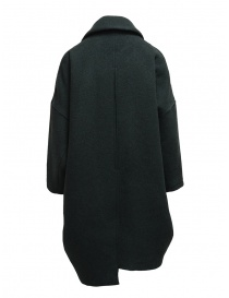 Zucca green three quarter sleeve cocoon-shaped coat