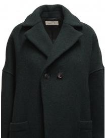 Zucca green three quarter sleeve cocoon-shaped coat womens coats buy online