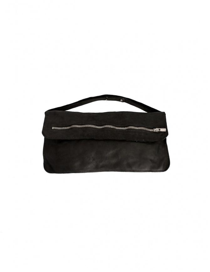 Borsa Guidi FLT1 in pelle di cavallo nera FLT1 BLKT borse online shopping