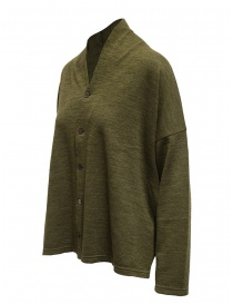 Plantation green V-neck sweater with buttons buy online