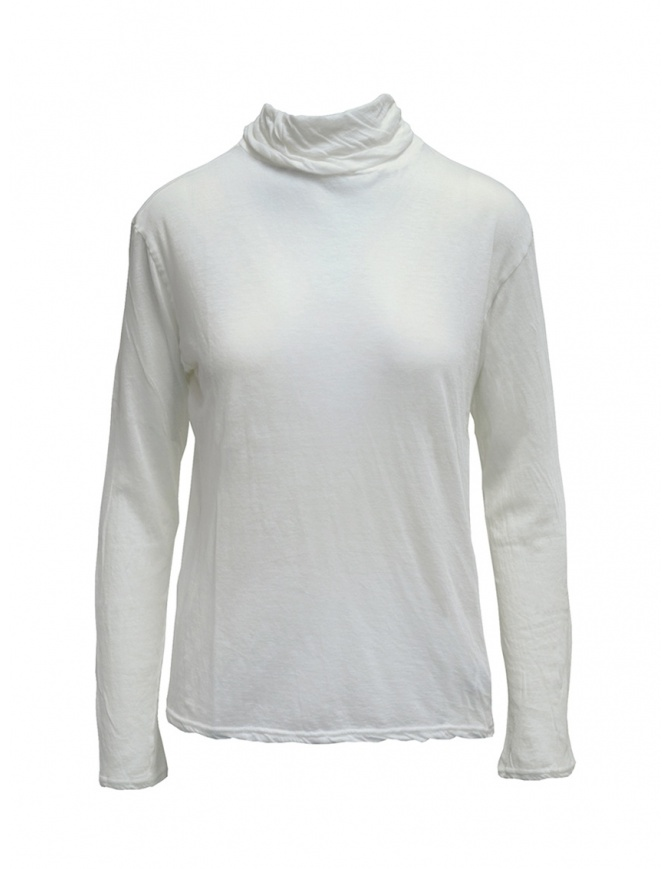 T-shirt Plantation bianca a maniche lunghe PL99JJ153 WHITE t shirt donna online shopping