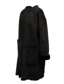 Plantation cappotto reversibile camoscio-pelliccia nero