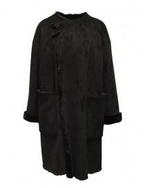 Cappotti donna online: Plantation cappotto reversibile camoscio-pelliccia nero