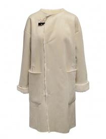 Plantation cappotto reversibile suede-pelliccia bianco online