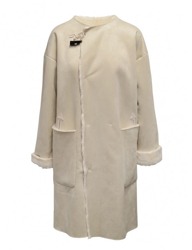 Plantation cappotto reversibile suede-pelliccia bianco PL99FA920 WHITE cappotti donna online shopping