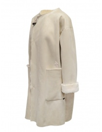 Plantation reversible suede-fur white coat