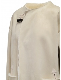 Plantation cappotto reversibile suede-pelliccia bianco cappotti donna acquista online