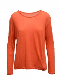 Plantation t-shirt a manica lunga rosso aragosta PL99-JJ152 RED order online